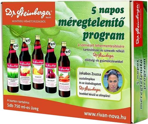 méregtelenítő program természetes gyümölcslevekkel